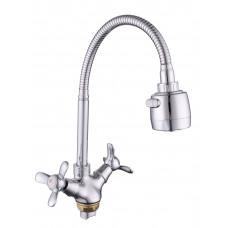 Смеситель для кухни с гайкой (с гибким изливом) KDM-2008A-06-62, 1/2