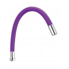 Излив гибкий,  силиконовый, SP-07P фиолетовый