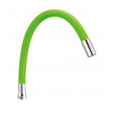 Излив гибкий, силиконовый, SP-07LG, зеленый